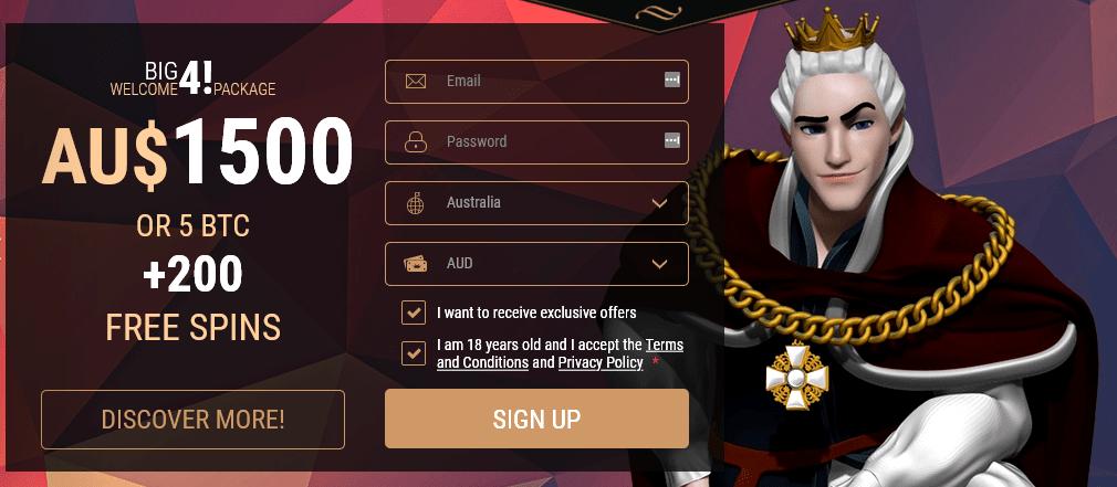 King Billy casino offer
